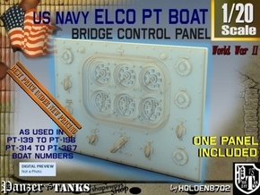 1-20 PT Boat Bridge Control Pannel Typ2 in Smooth Fine Detail Plastic