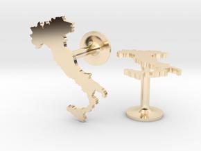 Italy Cufflinks in 14k Gold Plated Brass