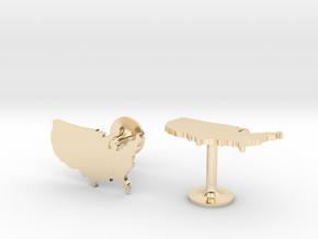 USA Cufflinks in 14k Gold Plated Brass