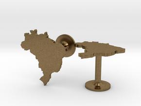 Brazil Cufflinks in Natural Bronze