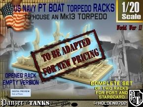 1-20 PT Torpedo Rack TypC Empty in Transparent Acrylic
