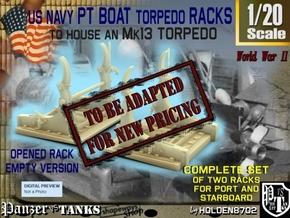 1-20 PT Torpedo Rack TypD Empty in Transparent Acrylic