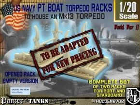 1-20 PT Torpedo Rack TypE Empty in Transparent Acrylic