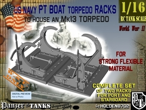 1-16 PT Torpedo Rack TypC WSF in White Natural Versatile Plastic