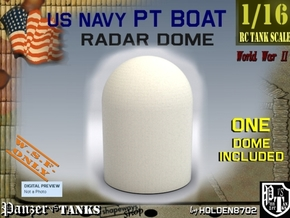 1-16 Radar DOME For PT BOAT in White Processed Versatile Plastic