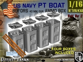 1-16 Bofors Ammo Box Set1 in Smooth Fine Detail Plastic