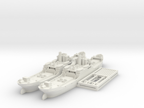 EFC 1020 'Laker' WW1 Freighter 1/600 & 1/700 in White Natural Versatile Plastic: 1:600