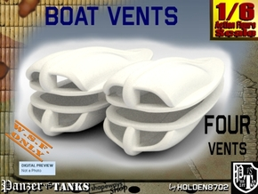 1-6 Boat Vent 4 Uds in White Strong & Flexible Polished