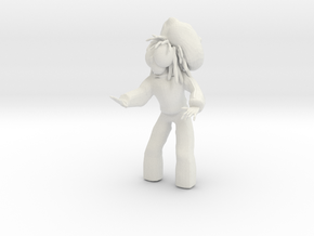 DJ DREADDIE 3D PRINT VERSION in White Strong & Flexible