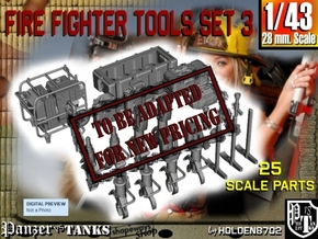1-43 Firemen Tools Set 3 in Transparent Acrylic
