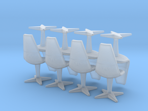 8 Swivel Chairs Hi Rez (Star Trek Classic), 1/72 in Frosted Ultra Detail