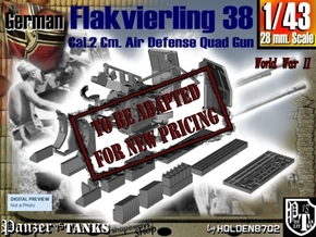 1-43 Flakvierling 38 in Transparent Acrylic