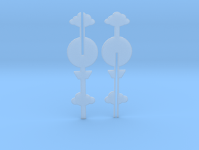 Cake Topper - Clouds & Balloon #1 in Smooth Fine Detail Plastic