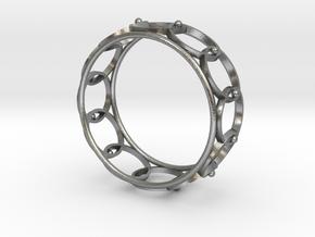 Circle Cuff in Natural Silver