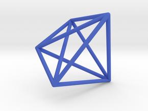 4-Dimensional Simplex in Blue Processed Versatile Plastic