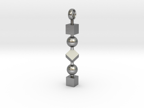 Totem of Cubes&Spheres (Still) in Natural Silver