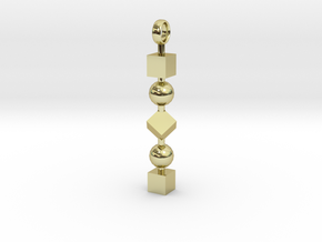 Totem of Cubes&Spheres (Still) in 18k Gold Plated Brass