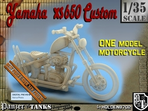 1-35 Yamaha XS650 Custom in Smooth Fine Detail Plastic