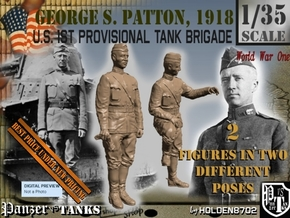 1-35 George S Patton 1918 in Smooth Fine Detail Plastic