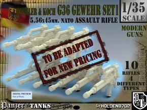 1-35 Heckler Koch Gewehr G36 Set1 in Transparent Acrylic