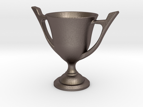 Trophy cup in Polished Bronzed Silver Steel