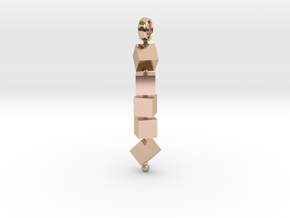Totem of Cubes (Still) in 14k Rose Gold Plated