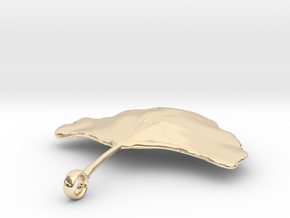 Ginkgo Leaf Necklace in 14K Yellow Gold