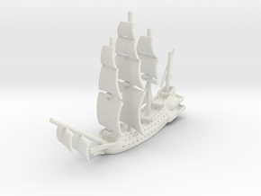 Flying Dutchman in White Natural Versatile Plastic: Small