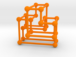 A(3) Orthotope in Orange Strong & Flexible Polished