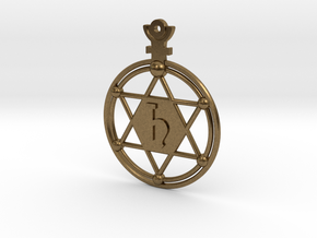 The Saturnus (precious metal earring/pendant) in Natural Bronze
