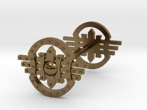 Shields Earring in Polished Bronze