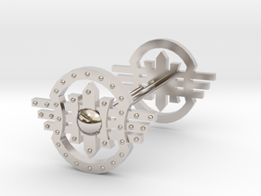 Shields Earring in Rhodium Plated Brass