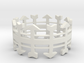 Arrow Rack Ring in White Natural Versatile Plastic: 6 / 51.5