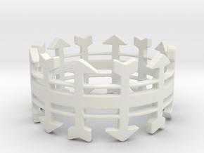 Arrow Rack Ring in White Natural Versatile Plastic: 6 / 51.5