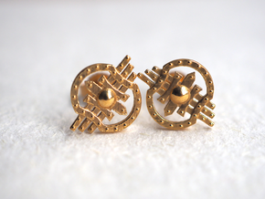 Shields Earring in 14k Gold Plated Brass