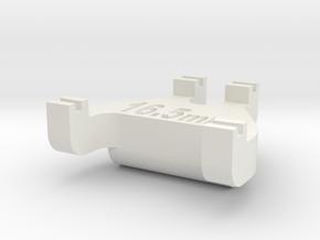 HO Track Gauge - Code 83 in White Natural Versatile Plastic