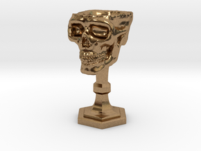 Chalice: Skull Chalice for 1:24 scale (1/2 scale) in Natural Brass