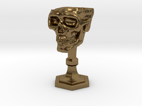 Chalice: Skull Chalice for 1:24 scale (1/2 scale) in Natural Bronze