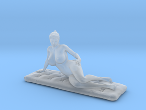 Artistic nude on cushion.  v2 in Smooth Fine Detail Plastic