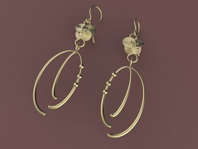 The Artists Wife Earrings in Polished Brass (Interlocking Parts)