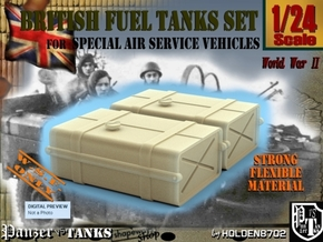 1-24 SAS Jeep Fuel Tanks in White Natural Versatile Plastic
