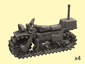 28mm Vezdekhod tracked vehicle (4 pieces) in Smooth Fine Detail Plastic