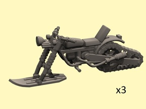 28mm Snow motorbike x3 in Frosted Ultra Detail