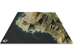 """Table Mountain Map: 8.5""""x11"""" Portrait in Glossy Full Color Sandstone"""