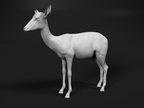 Impala 1:6 Standing Female in White Natural Versatile Plastic