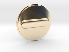 Canary 1 Privacy Cover Lens Cap in 14k Gold Plated Brass