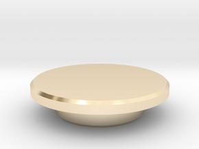 Fidget Spinner Caps in 14k Gold Plated Brass