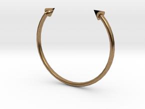Arrow Cuff - XS in Natural Brass