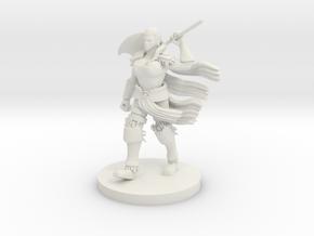 Human Female Barbarian in White Natural Versatile Plastic
