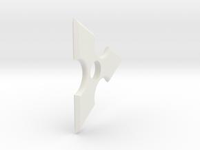 Pointed fidget spinner in White Natural Versatile Plastic